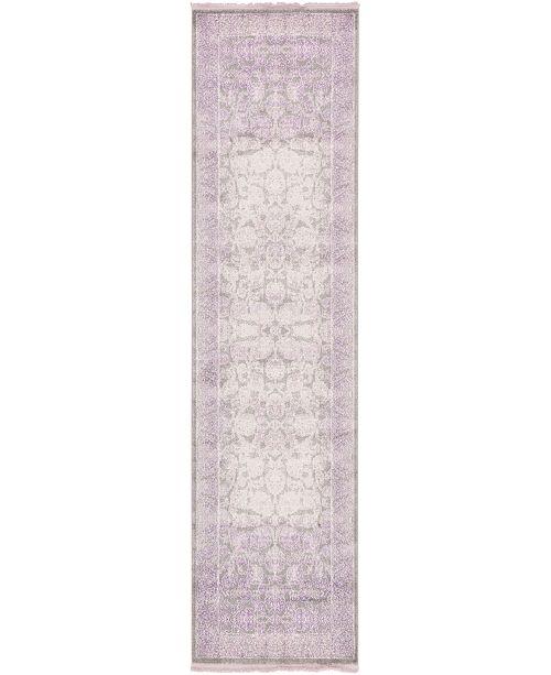 """Bridgeport Home Norston Nor3 Purple 2' 7"""" x 10' Runner Area Rug"""