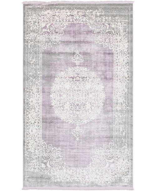 Bridgeport Home Norston Nor4 Purple 5' x 8' Area Rug