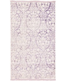 "Bridgeport Home Norston Nor5 Purple 3' 3"" x 5' 3"" Area Rug"