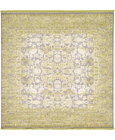 Norston Nor3 Light Green 8' x 8' Square Area Rug