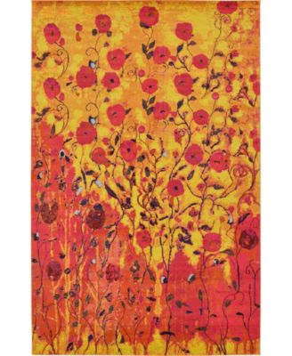 "Newwolf New3 Yellow 10' 6"" x 16' 5"" Area Rug"
