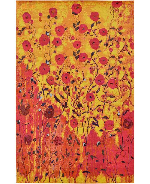 Bridgeport Home Newwolf New3 Yellow Area Rug Collection