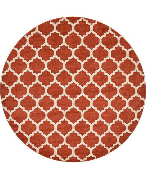 Bridgeport Home Arbor Arb1 Light Terracotta 10' x 10' Round Area Rug