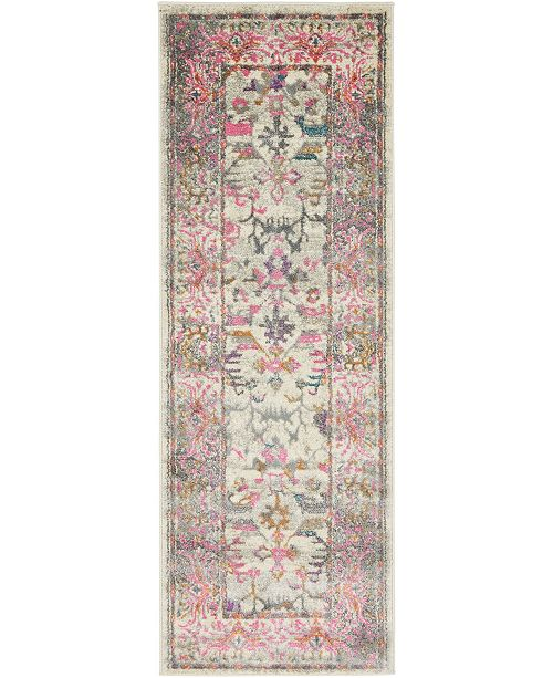 "Bridgeport Home Aroa Aro1 Beige 2' 2"" x 6' Runner Area Rug"