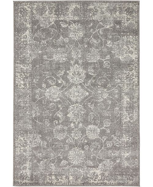 Bridgeport Home Wisdom Wis6 Dark Gray 4' x 6' Area Rug