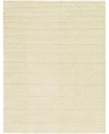Bridgeport Home Exact Shag Exs1 Pure Ivory 10' x 13' Area Rug