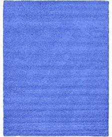 Bridgeport Home Exact Shag Exs1 Periwinkle Blue 12' x 15' Area Rug
