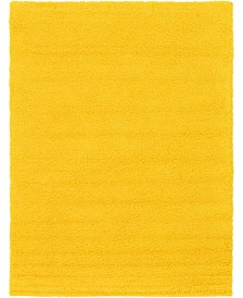 Bridgeport Home Exact Shag Exs1 Tuscan Sun Yellow 8' x 11' Area Rug