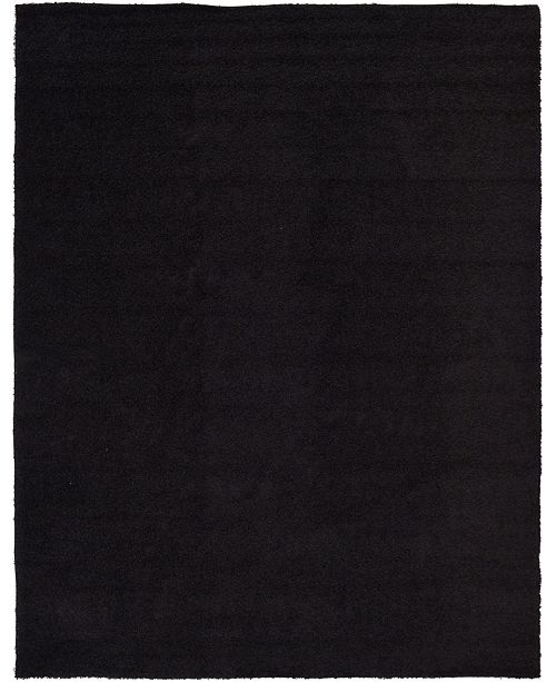 Bridgeport Home Exact Shag Exs1 Jet Black 10' x 13' Area Rug