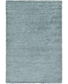 Bridgeport Home Exact Shag Exs1 Light Slate Blue 6' x 9' Area Rug