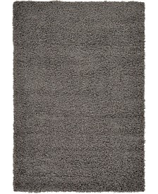 Bridgeport Home Exact Shag Exs1 Graphite Gray 4' x 6' Area Rug
