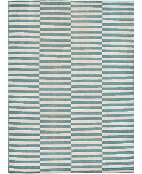 Bridgeport Home Axbridge Axb2 Teal 7' x 10' Area Rug
