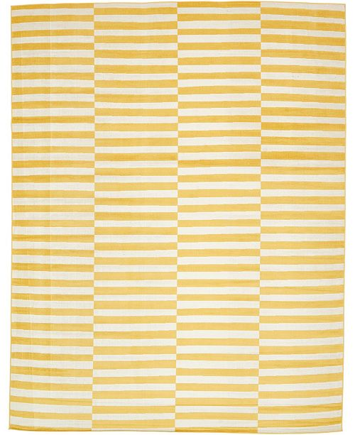 Bridgeport Home Axbridge Axb2 Yellow 10' x 13' Area Rug