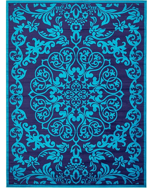 Bridgeport Home Politan Pol2 Turquoise 9' x 12' Area Rug