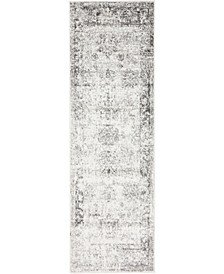 "Basha Bas1 Gray 2' x 6' 7"" Runner Area Rug"