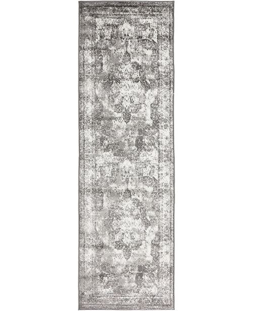 "Bridgeport Home Basha Bas2 Gray 2' x 6' 7"" Runner Area Rug"