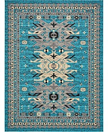 Bridgeport Home Charvi Chr1 Turquoise 9' x 12' Area Rug