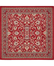 Bridgeport Home Arnav Arn1 Red 8' x 8' Square Area Rug