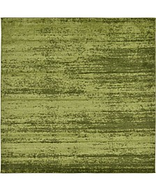Lyon Lyo3 Green 8' x 8' Square Area Rug