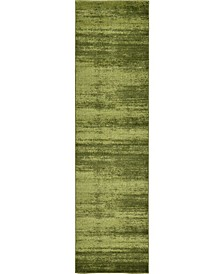 "Lyon Lyo3 Green 2' 7"" x 10' Runner Area Rug"