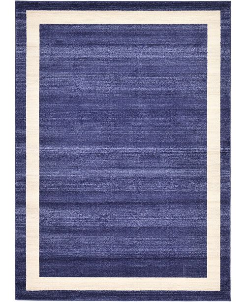 Bridgeport Home Lyon Lyo5 Navy Blue 6' x 9' Area Rug