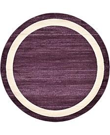 Lyon Lyo5 Violet 6' x 6' Round Area Rug