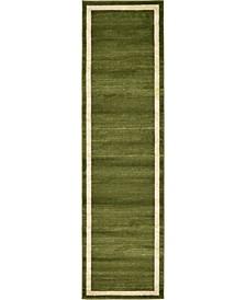 "Lyon Lyo5 Green 2' 7"" x 10' Runner Area Rug"