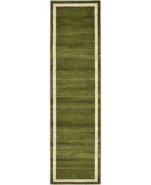 "Bridgeport Home Lyon Lyo5 Green 2' 7"" x 10' Runner Area Rug"