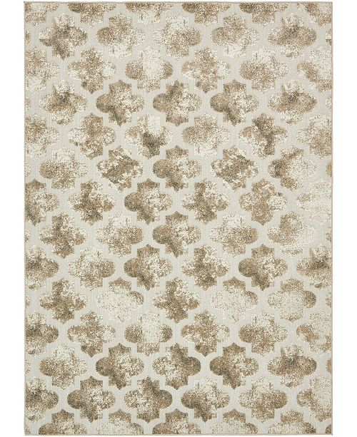 Bridgeport Home Pashio Pas2 Ivory 7' x 10' Area Rug