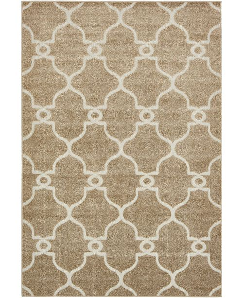Bridgeport Home Pashio Pas2 Light Brown 6' x 9' Area Rug