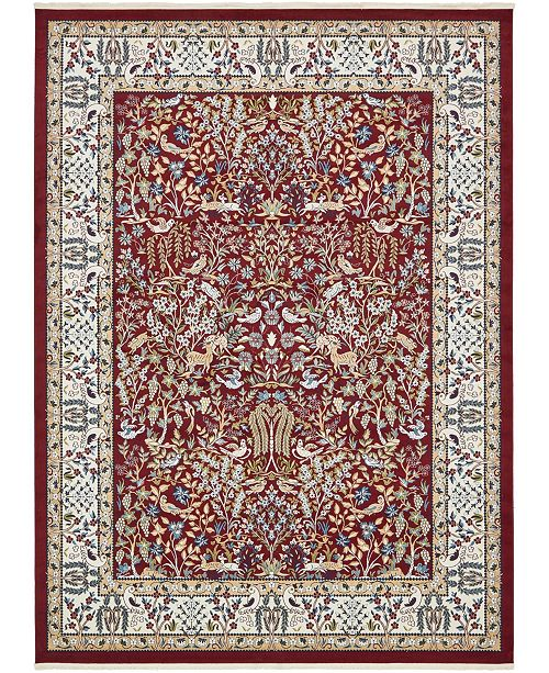 Bridgeport Home Zara Zar7 Burgundy 10' x 13' Area Rug