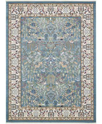 Zara Zar7 Blue 10' x 13' Area Rug