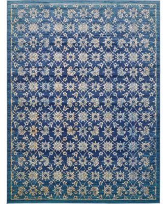 Masha Mas1 Navy Blue 10' x 13' Area Rug