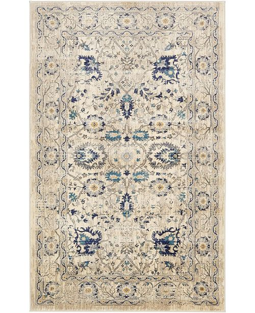 Bridgeport Home Masha Mas3 Beige 5' x 8' Area Rug