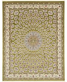 Zara Zar1 Green 8' x 10' Area Rug