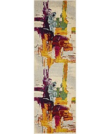 "Newwolf New6 Beige 2' 2"" x 6' 7"" Runner Area Rug"