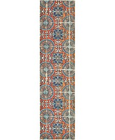 "Newwolf New5 Orange 2' 7"" x 10' Runner Area Rug"