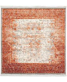 Norston Nor3 Terracotta 4' x 4' Square Area Rug