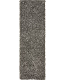 "Uno Uno1 Gray 2' 2"" x 6' 7"" Runner Area Rug"