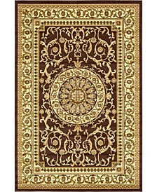 Belvoir Blv2 Brown 6' x 9' Area Rug