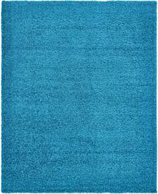 Exact Shag Exs1 Turquoise 8' x 10' Area Rug