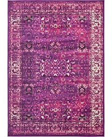 Linport Lin1 Lilac 7' x 10' Area Rug