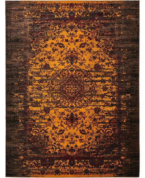 "Bridgeport Home Linport Lin4 Orange 13' x 19' 8"" Area Rug"