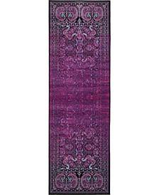 "Linport Lin6 Lilac 3' x 9' 10"" Runner Area Rug"