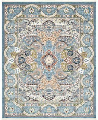 Zara Zar2 Blue 8' x 10' Area Rug