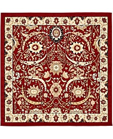 Bridgeport Home Aelmoor Ael1 Red 8' x 8' Square Area Rug