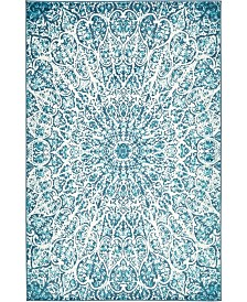 Bridgeport Home Basha Bas4 Turquoise 5' x 8' Area Rug
