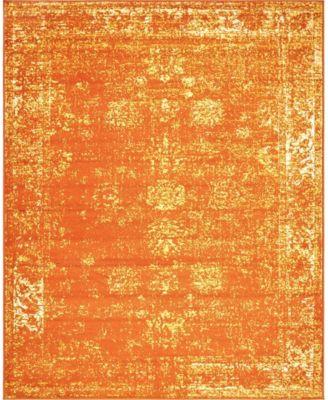 Basha Bas1 Orange 7' x 10' Area Rug