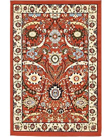 Bridgeport Home Aelmoor Ael1 Terracotta 4' x 6' Area Rug
