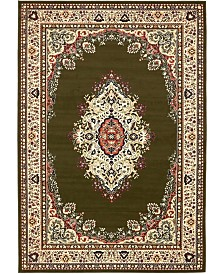 Bridgeport Home Birsu Bir1 Green 6' x 9' Area Rug